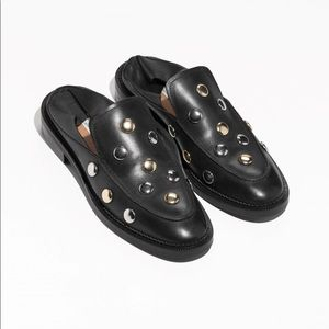 & other stories Black Studded Loafers US 8 EU 38